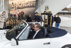 The 24 Hours of Le Mans trophy arrival at Porsche Museum