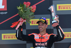 Podium: third place Marco Melandri, Aruba.it Racing-Ducati SBK Team