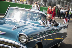 Alejandro Soberon, President and CEO for CIE Group and President of Formula 1 Gran Premio de Mexico and Chase Carey, Chief Executive Officer and Executive Chairman of the Formula One Group on the drivers parade