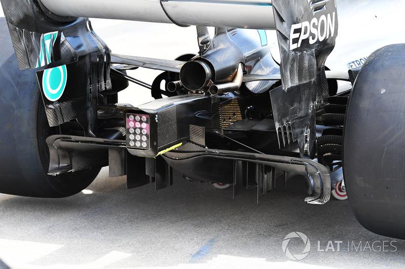 Parte trasera del Mercedes-AMG F1 W09