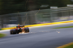 Max Verstappen, Red Bull Racing RB14 Tag Heuer, strikes up sparks