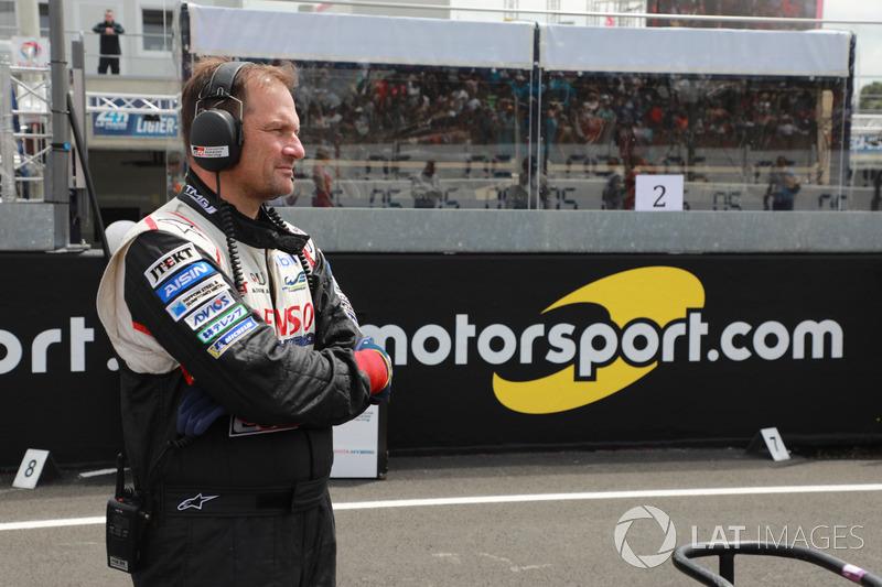 Un membro del team Toyota Racing