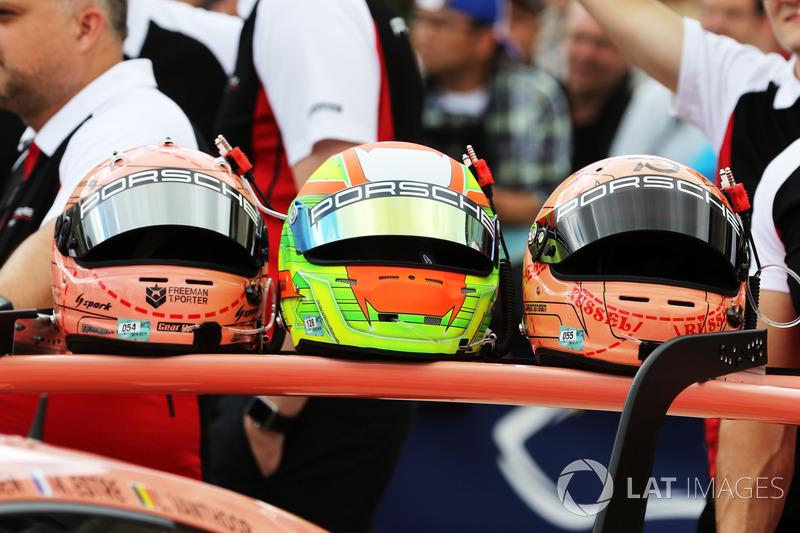 Porsche GT Team driver helmets