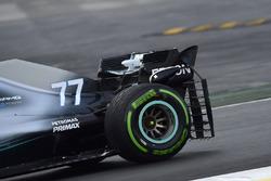 Valtteri Bottas, Mercedes-AMG F1 W09, aero sensor on rear wing