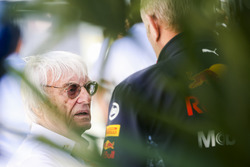 Bernie Ecclestone, Chairman Emeritus of Formula 1, with Helmut Markko, Consultant, Red Bull Racing