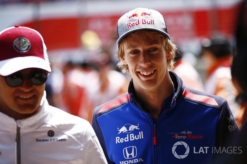 Marcus Ericsson, Sauber, e Brendon Hartley, Toro Rosso