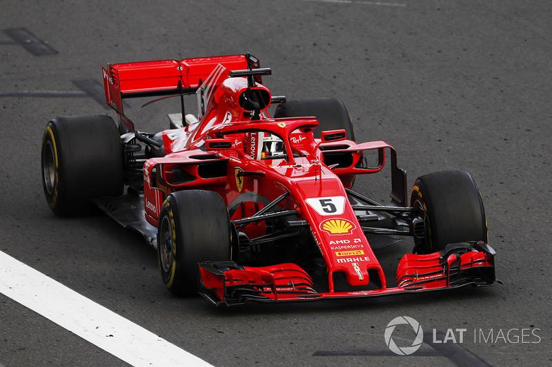 Sebastian Vettel, Ferrari SF71H, fête sa victoire