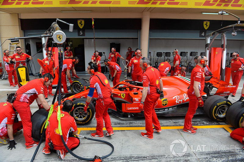 Essais d'arrêts au stand pour Ferrari