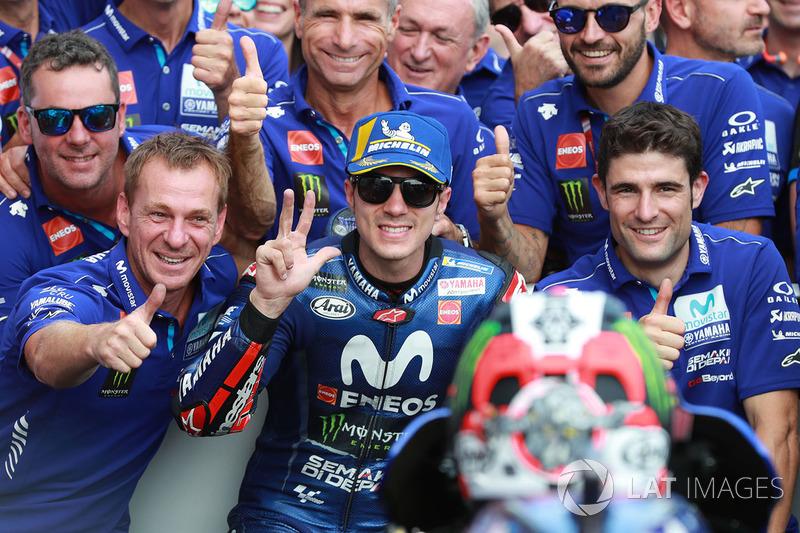 Il terzo classificato Maverick Viñales, Yamaha Factory Racing