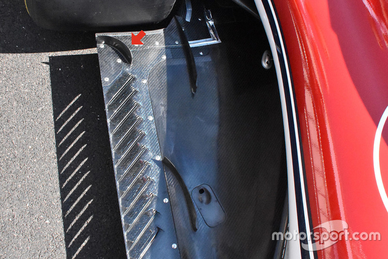 Detalle del fondo plano del Sauber C37