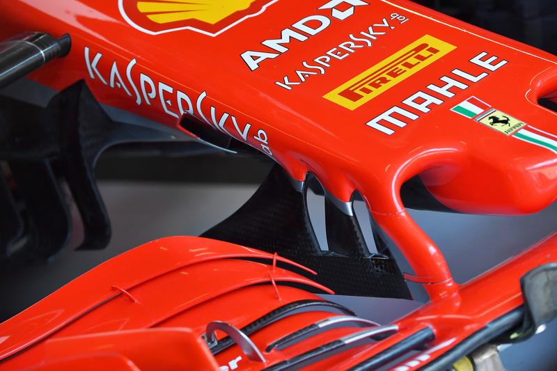 Ferrari SF-71H detalle de la nariz