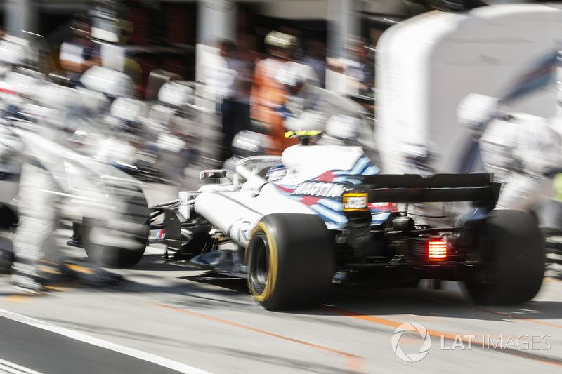 Sergey Sirotkin, Williams FW41 au stand