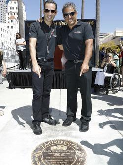 Los inducidos al Walk of Fame de Long Beach Helio Castroneves y Juan Pablo Montoya