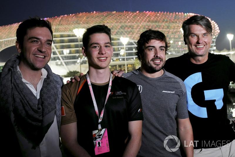 Carlos Rodriguez Santiago, Gamer & Founder of G2 Esports, Fernando Alonso, McLaren and Cem Bolukbasi, G2 Esports Gamer