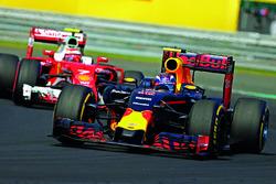 Max Verstappen, Red Bull Racing RB12 lidera a Kimi Raikkonen, Ferrari SF16-H