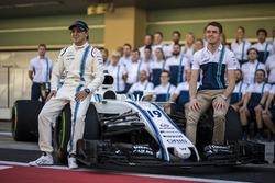 Felipe Massa, Williams y Paul di Resta, Williams en la foto del  equipo Williams