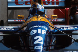 Race winner Alain Prost, Williams FW15C