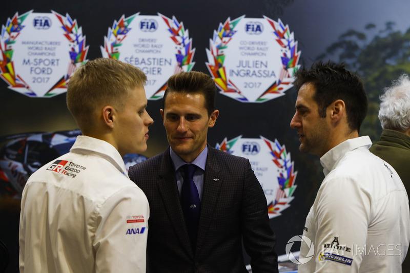 WRC drivers and Matthew Wilson