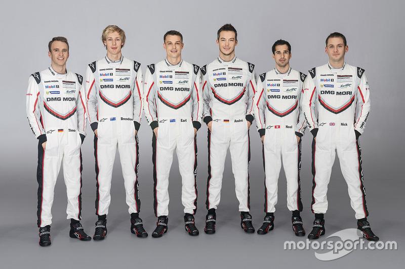 Porsche Team: Timo Bernhard, Brendon Hartley, Earl Bamber, André Lotterer, Neel Jani, Nick Tandy