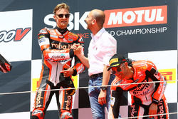 Podium: race winner Chaz Davies, Ducati Team, third place Marco Melandri, Ducati Team