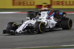 Felipe Massa, Williams FW40, leads Daniel Ricciardo, Red Bull Racing RB13
