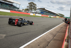 Pietro Fittipaldi, Lotus, takes the checkered flag
