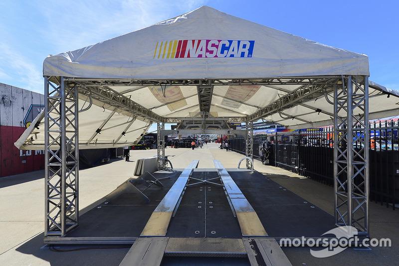 NASCAR inspection tent