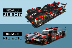 Audi R18 2017 different with R18 2016