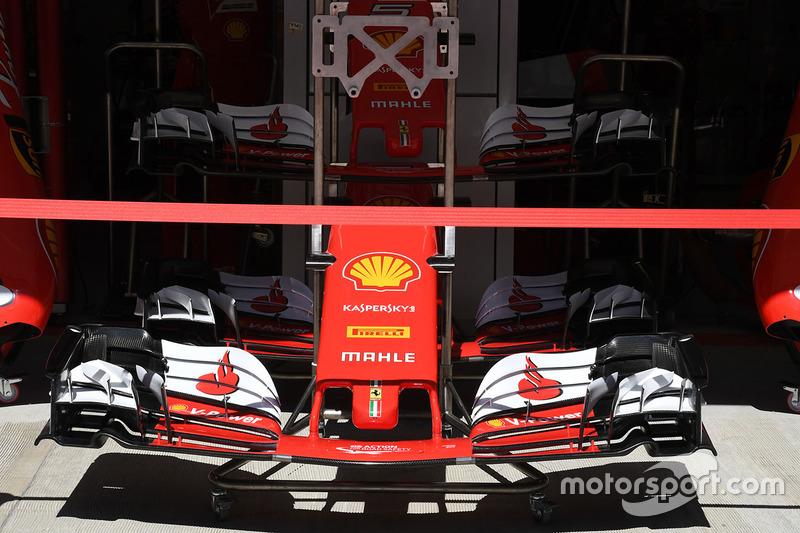 Ferrari SF70H detalle ala y nariz delantera