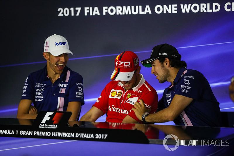 Естебан Окон, Force India, Себастьян Феттель, Ferrari, Серхіо Перес, Force India