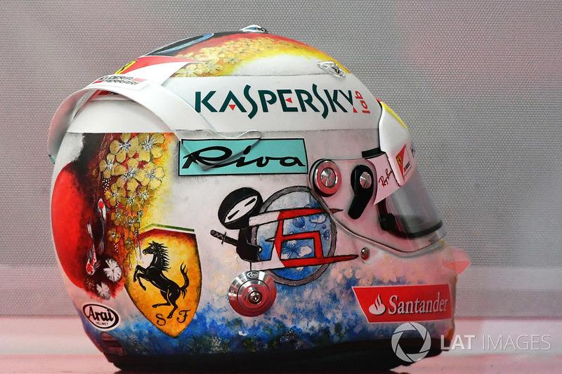 Kask, Sebastian Vettel, Ferrari