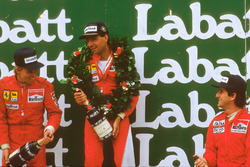 1. Michele Alboreto, Ferrari; 2. Stefan Johansson, Ferrari; 3. Alain Prost, McLaren