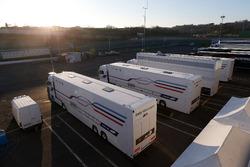 BMW Team RBM Trucks in the paddock