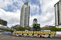 Marco Andretti, Andretti Autosport Honda, Conor Daly, A.J. Foyt Enterprises Chevrolet