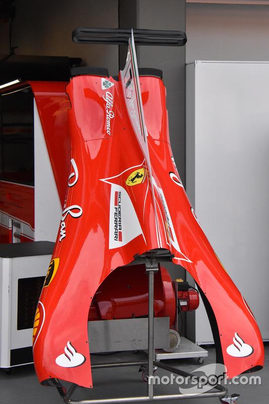 Capot moteur de la Ferrari SF70H