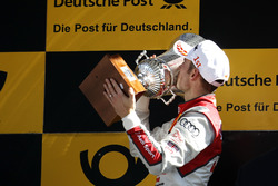 Podium: Race winner Jamie Green, Audi Sport Team Rosberg, Audi RS 5 DTM