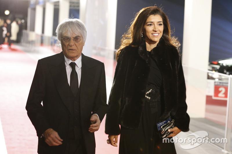 Bernie Ecclestone y esposa Fabiana Flosi