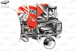 Ferrari F2012 diffuser (older specification inset)