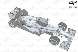 Mercedes W04 FRIC layout