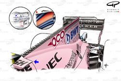 Force India VJM10 new engine cover, Singapore GP