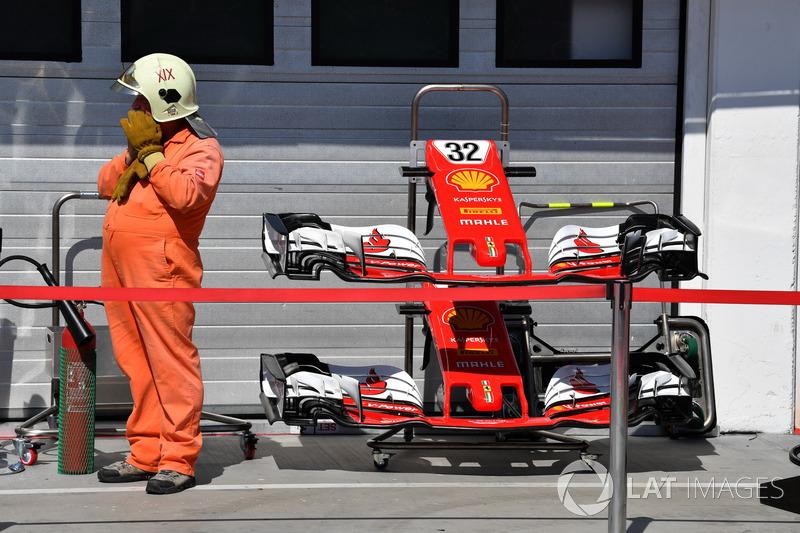 Ніс та переднє крило Ferrari SF70H