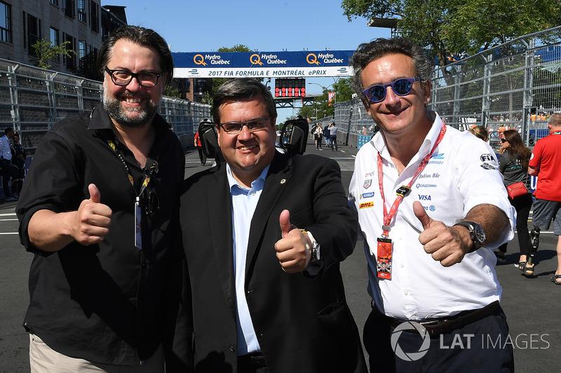 Denis Coderre, alcalde de Montreal, con Alejandro Agag CEO, fórmula E