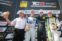 Podium: 1. Josh Files, Target Competition, Honda Civic Type R-TCR, 2. Mike Halder, Wolf-Power Racing, Seat Leon TCR, 3. Dino Calcum, Lubner Motorsport, Opel Astra TCR