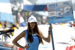 Grid girl of Esteban Guerrieri, Campos Racing, Chevrolet RML Cruze TC1