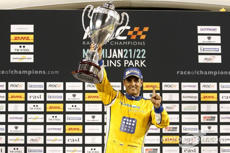 Победитель Гонки чемпионов Хуан-Пабло Мотнойя
