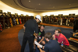 Helio Castroneves, Kurt Busch and Kyle Busch