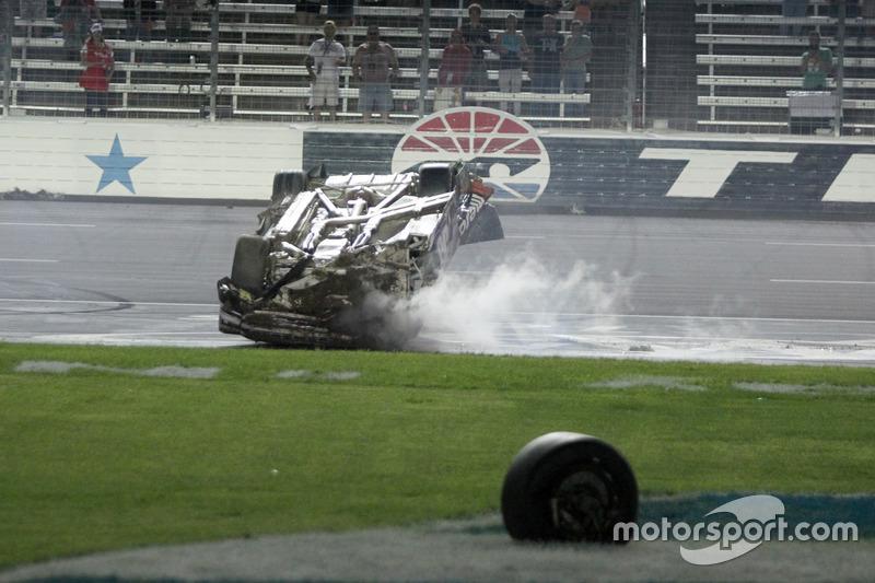 Timothy Peters Chevrolet Silverado Wrecks Nascar Truck