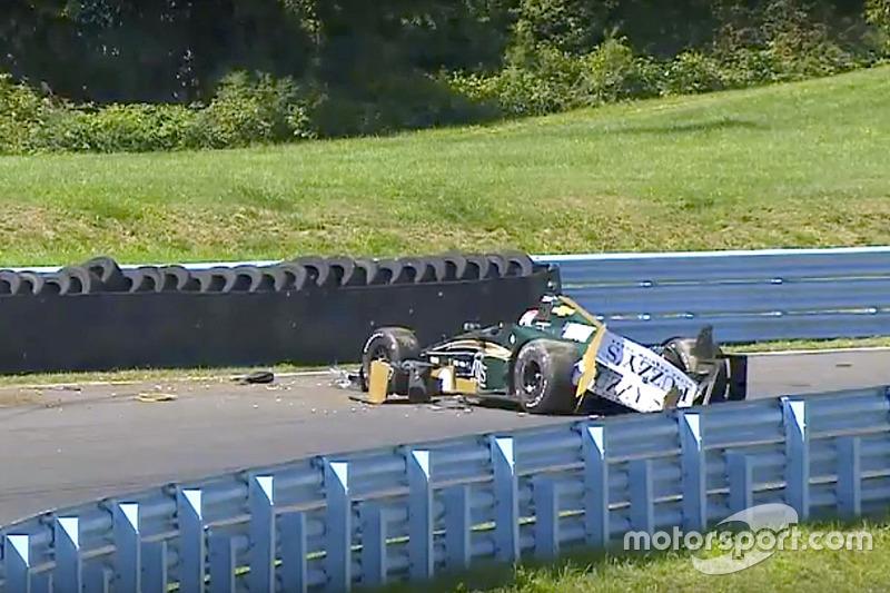 Josef Newgarden, Ed Carpenter Racing Chevrolet, crash