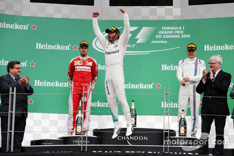 1. Lewis Hamilton, 2. Sebastian Vettel, 3. Valtteri Bottas
