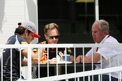 Carlos Sainz Jr., Scuderia Toro Rosso con Christian Horner, Red Bull Racing directr del equipo y Dr
